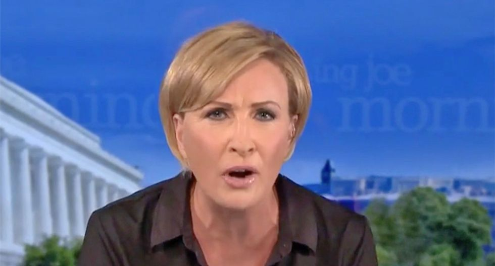 Morning Joe's Mika cuts off clip of Trump's lying and launches epic attack on 'stupid pathetic' president