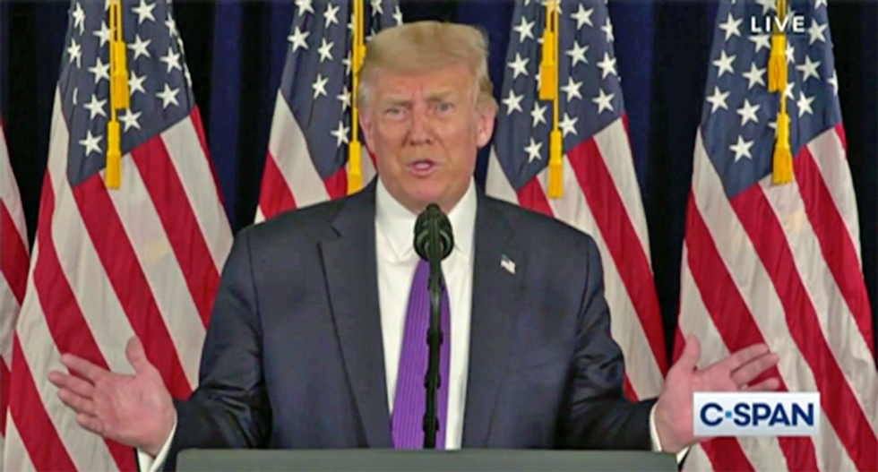 WATCH: Trump whines about getting blamed for college football not occurring due to his COVID failures