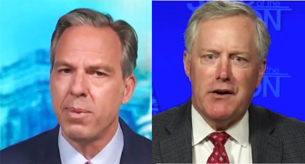Mark Meadows gets busted on-air for lying to Jake Tapper about disabling USPS sorting machines