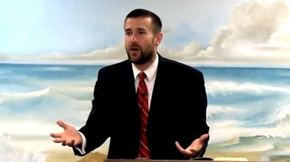 Anti-gay pastor who prayed for Obama's death demands silence from women in church