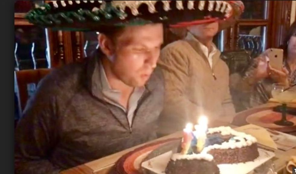 Eric Trump wore a sombrero while blowing out birthday cake candles, and the internet lost it