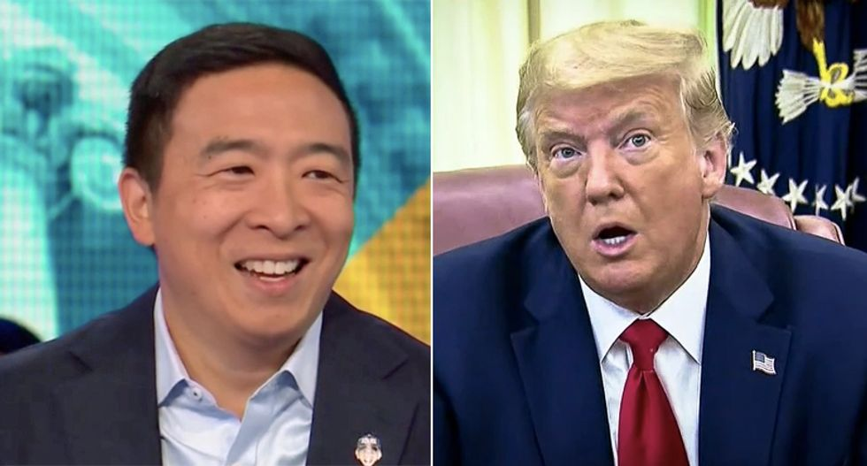 Andrew Yang has the one number he thinks predicts a Trump loss