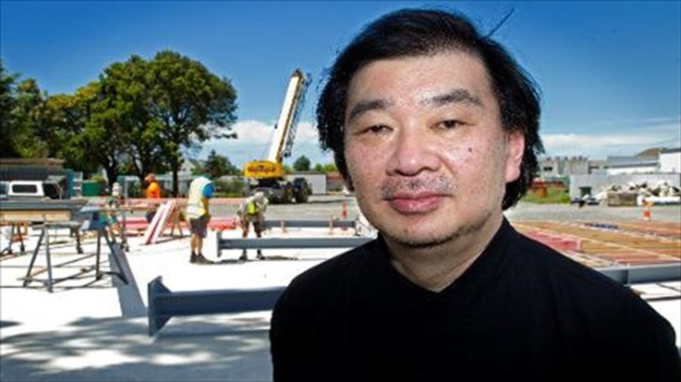 Japanese architect honored for creating temporary housing for disaster victims