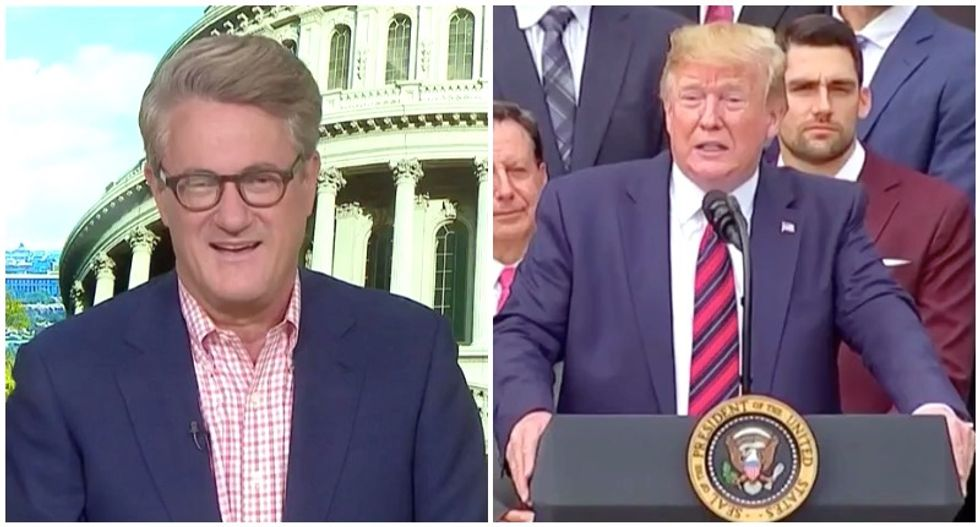 MSNBC's Morning Joe busts Trump for stealing his joke to make absurd tweet claiming credit for Red Sox wins