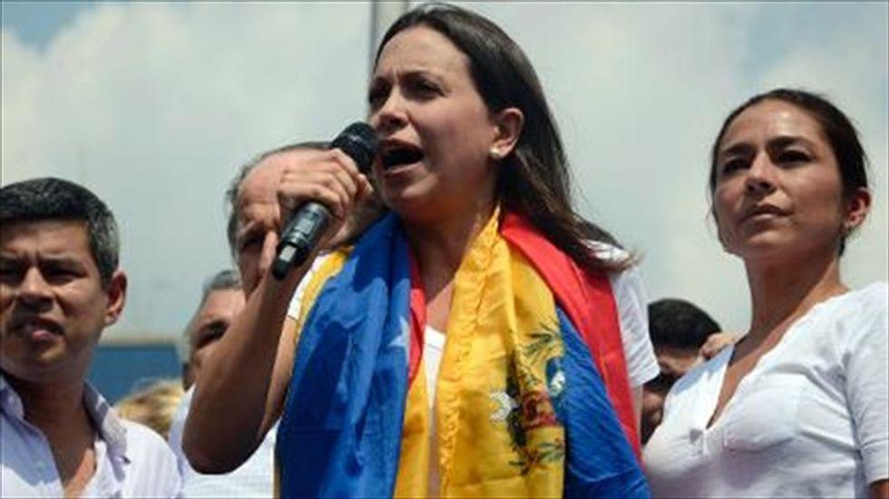 Venezuelan opposition leader dares Maduro's government to arrest her