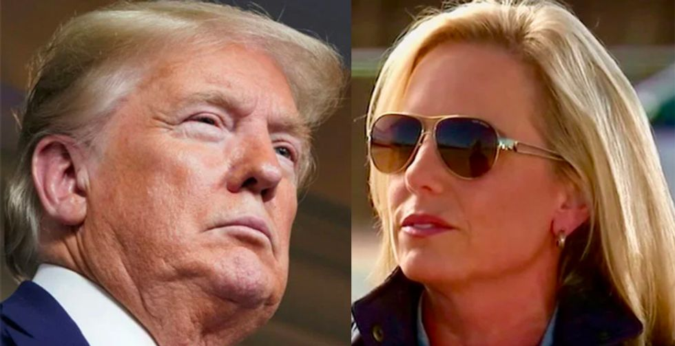 Trump bullied DHS head to ignore threats so she could make TV appearances at the border: ex-aide