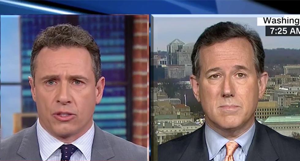 WATCH: Rick Santorum goes down in flames when CNN's Chris Cuomo fact-checks him on gun laws