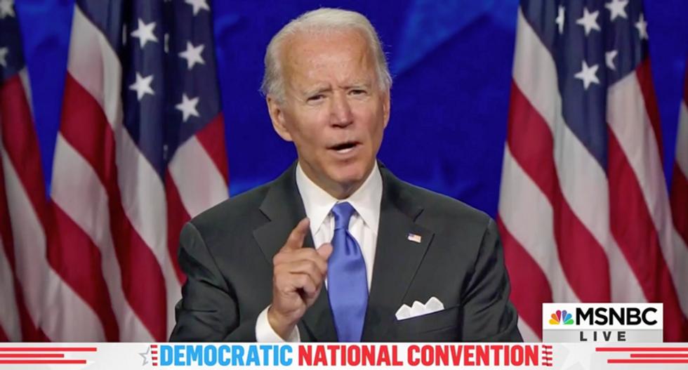 WATCH: Joe Biden rips Trump on coronavirus and the economy during hopeful and uplifting convention speech