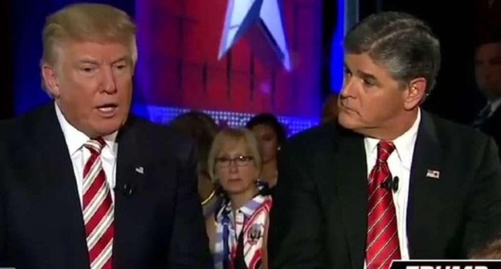 Fox News' Hannity has to stop and remind Trump to use anti-FBI propaganda in the middle of an interview