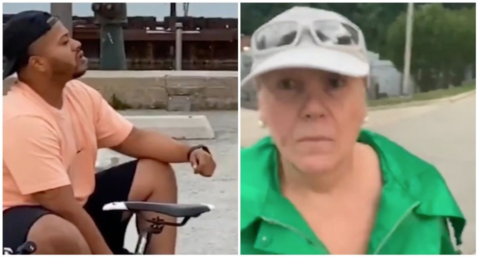 Woman arrested for battery after assaulting Black man for being on a pier
