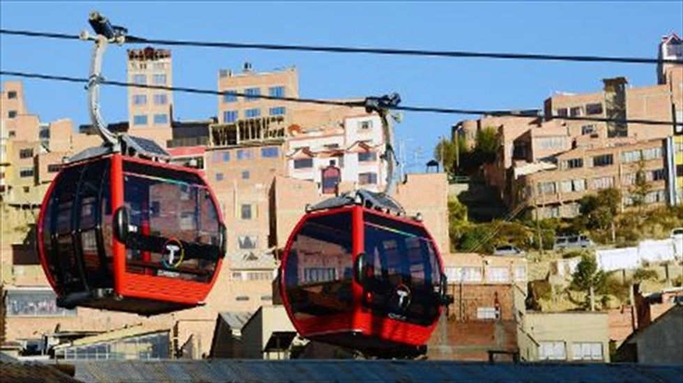 Commuting at 13,000 feet: Bolivia launches world's highest cable railway