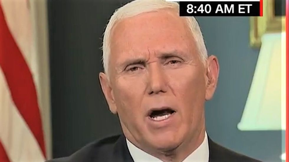 Mike Pence snaps when CNN's John Berman grills him over Trump's embrace of conspiracy nuts