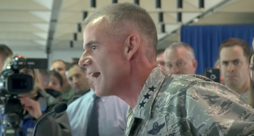 'Get out!': Lt General rains hell on Air Force Academy after racist messages were left on black cadets' rooms