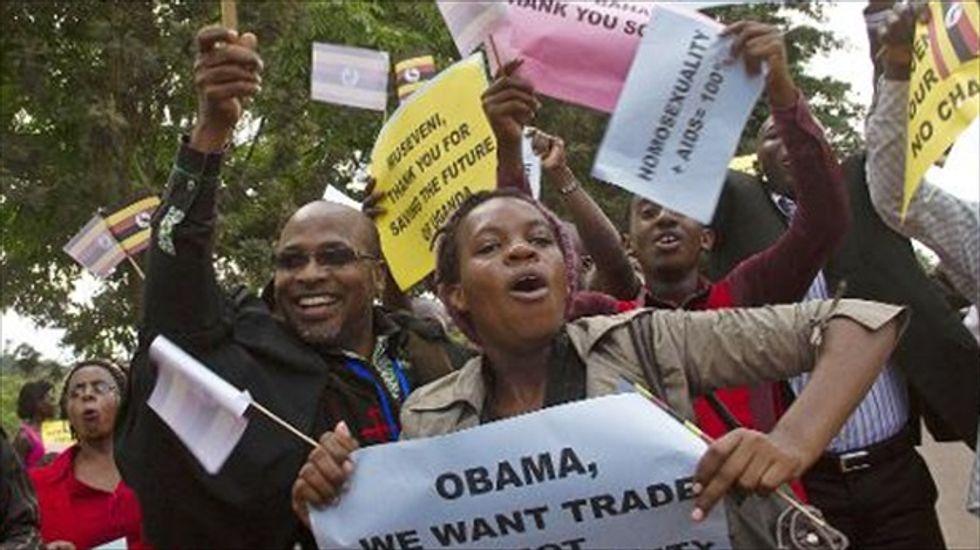 Ugandan President Museveni leads rally backing new anti-gay laws