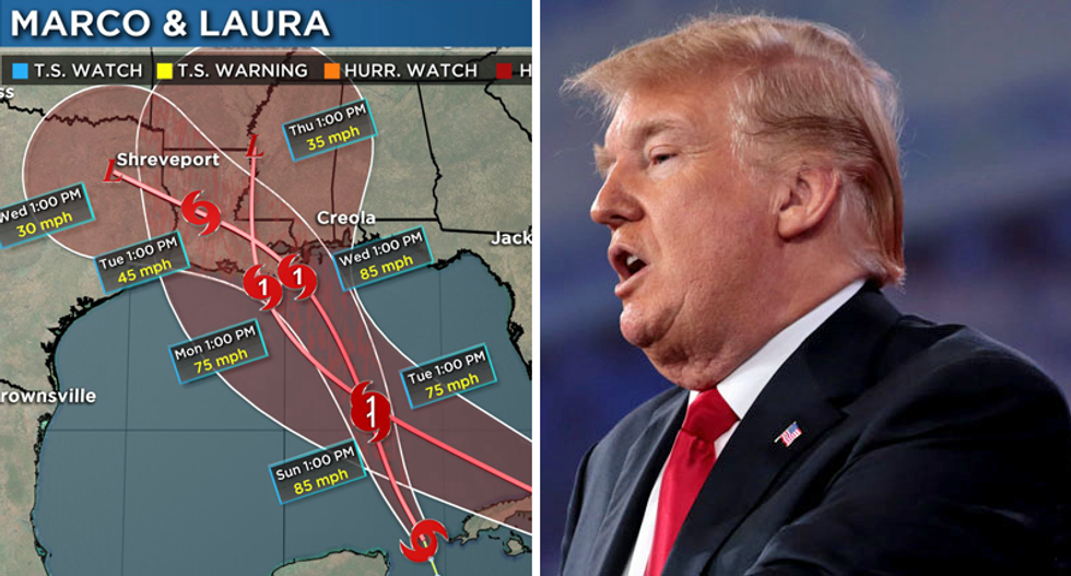 RNC 'split-screen convention for the ages' with 2 hurricanes making landfall: 'Basically God endorsing Joe Biden'