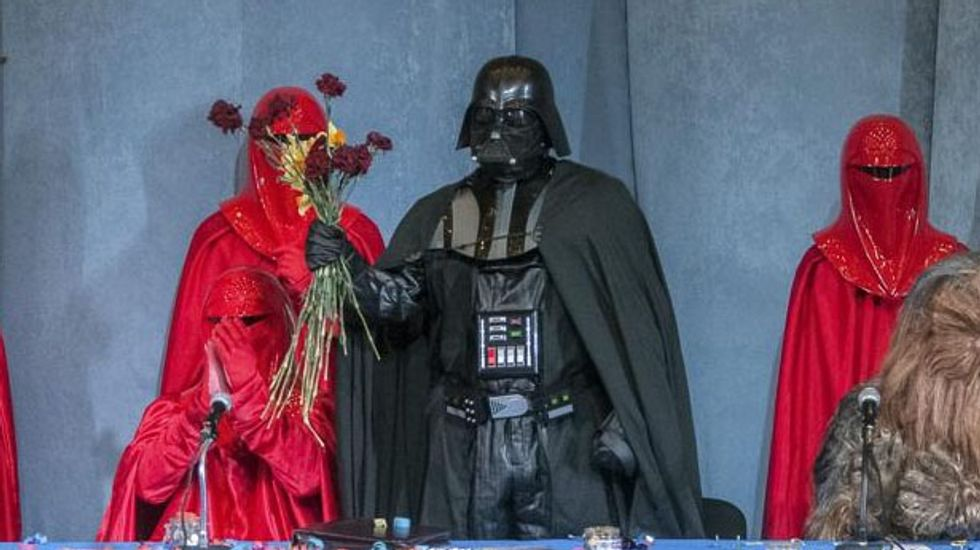 It's a trap! Ukrainian candidate 'Darth Vader' to make republic into 'fully operational' empire