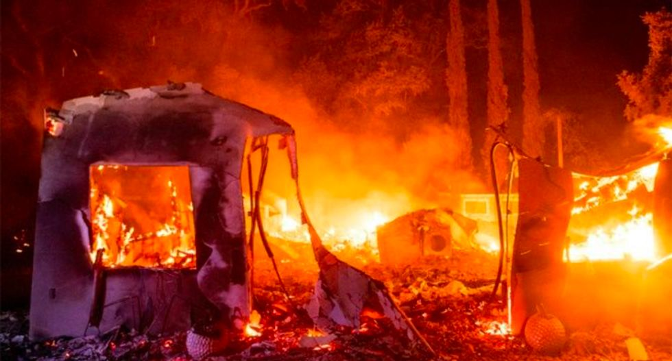 California fires force thousands to flee as more blazes feared