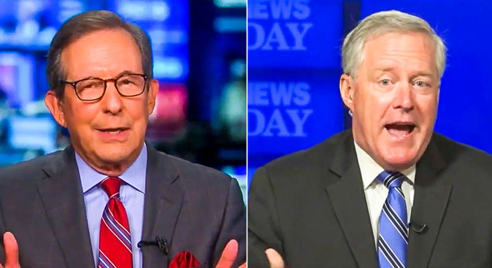 'It's a hate group': Chris Wallace sends Trump aide Mark Meadows into hysterics with QAnon question