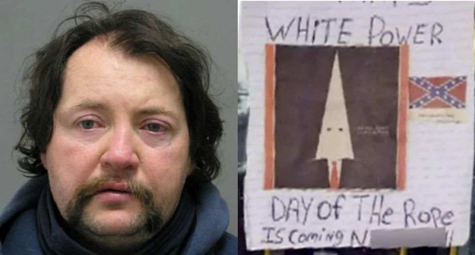 White supremacist arrested for racist Trump vandalism has history of stupid failed crimes