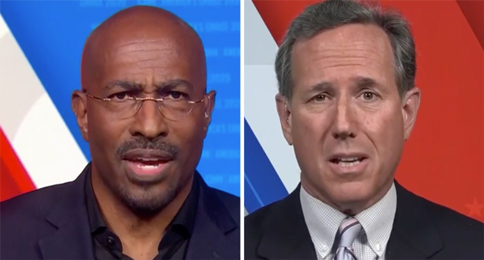 Van Jones urged Republicans to denounce Trump's racism — and Rick Santorum got really defensive