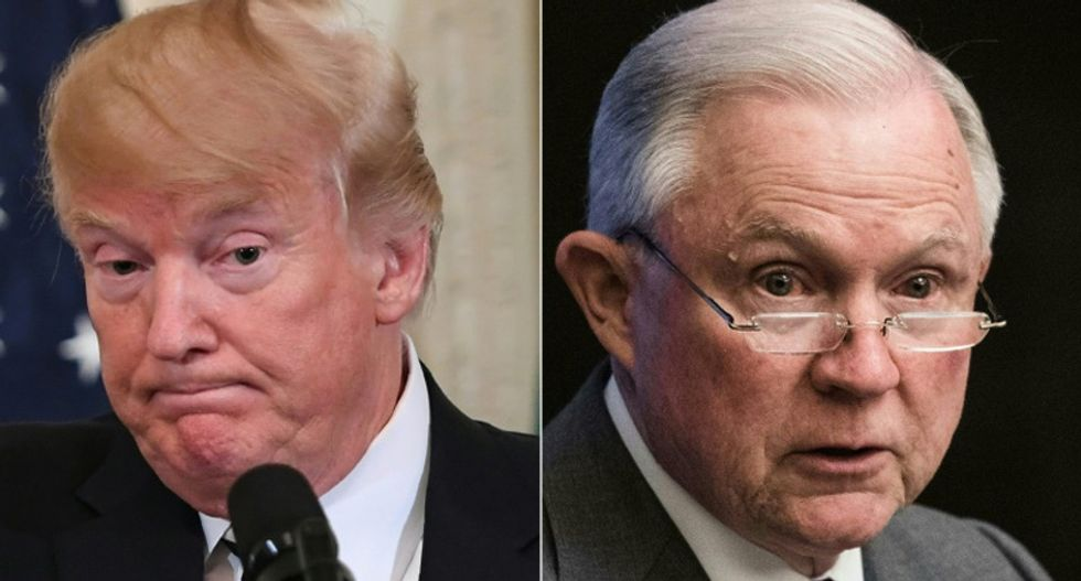 Trump taunts Jeff Sessions for Senate race flop: 'Didn't have courage to end Russia Witch Hunt!'