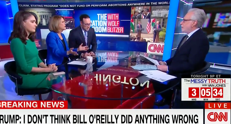 Watch: CNN panel offers the perfect explanation for why Trump is supporting Bill O'Reilly