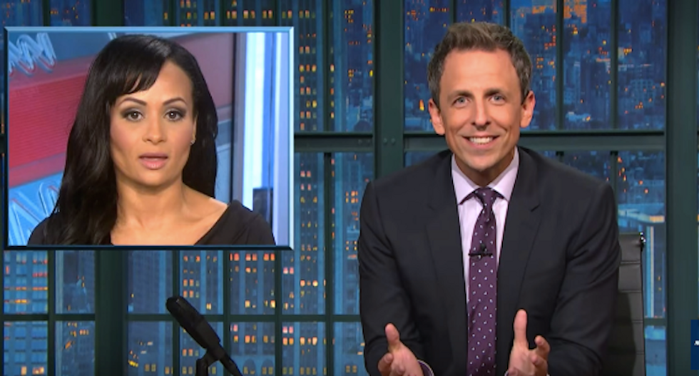 Seth Meyers mocks Katrina Pierson: She's like 'a zookeeper when the monkeys start throwing their sh*t'