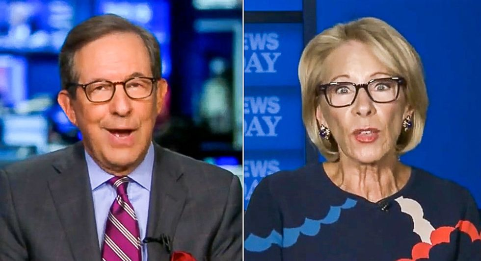 'You can't do that': Chris Wallace scolds Betsy DeVos for trying to illegally cut off school funding