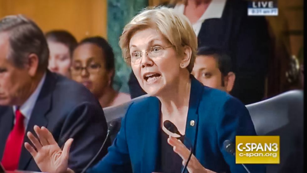 WATCH: Elizabeth Warren owns 'gutless' Wells Fargo CEO for firing employees instead of resigning