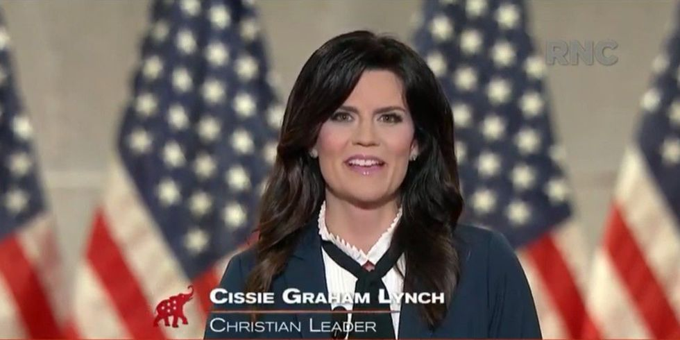 Right-wing evangelical 'Cissie' Graham Lynch told several whoppers during her RNC appearance