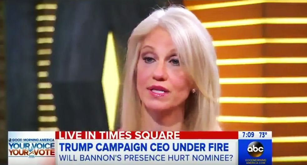 Campaign manager won't say if Trump is 'okay' with CEO's domestic abuse: 'All I know is what I read'