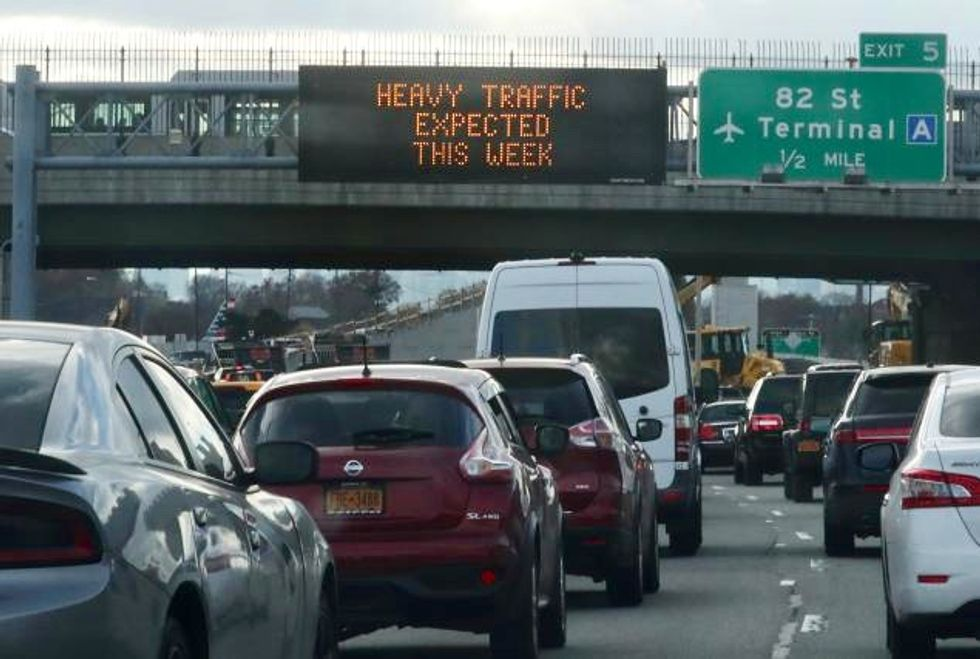 Traffic jams, bitter cold on this year's Thanksgiving menu