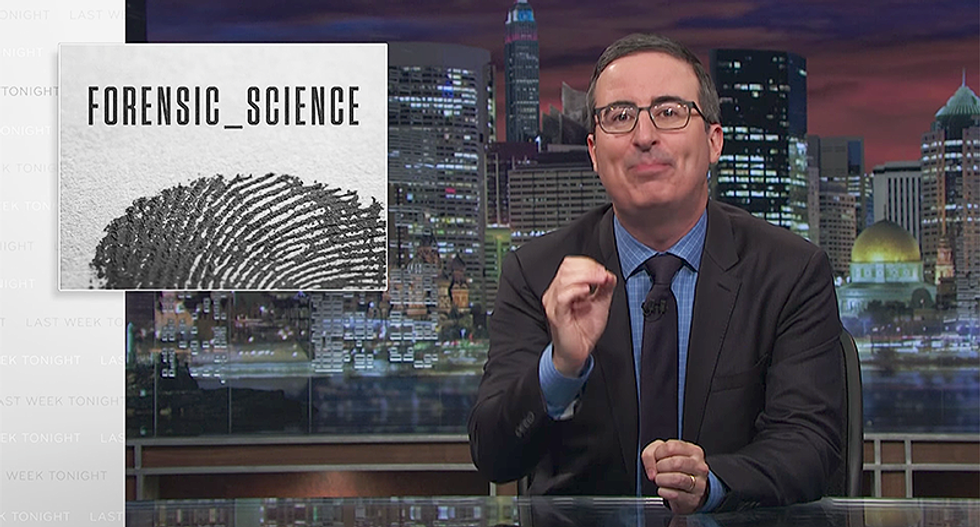 John Oliver calls BS on 'fake' forensic science that gets innocent people wrongly convicted