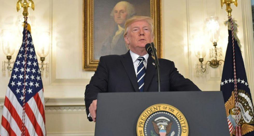 Trump calls Las Vegas massacre 'an act of pure evil' -- but doesn't mention guns