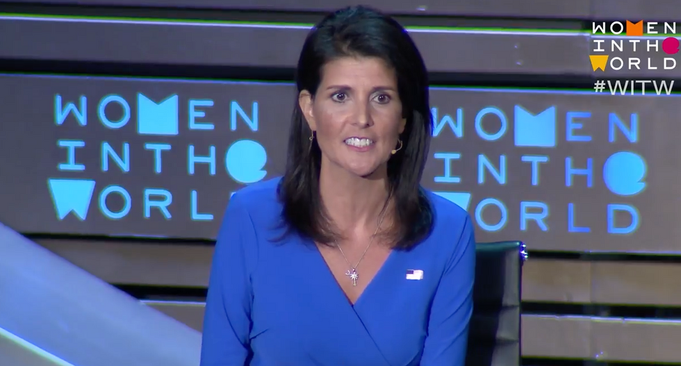 WATCH: Audience boos after Nikki Haley insists Trump's 'actions' are tough on Russia