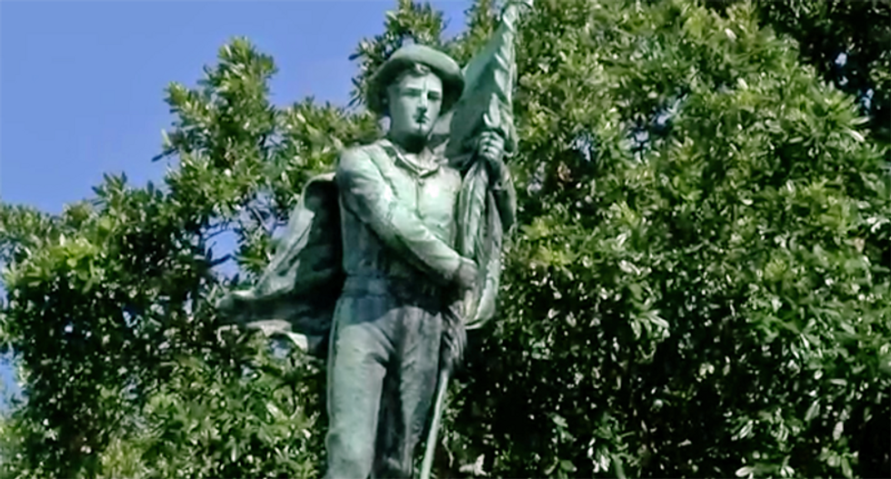 This Louisiana city voted to keep its Confederate monument – but mother nature had other plans