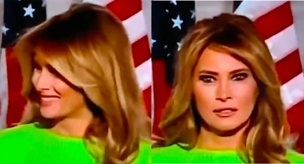 Melania Trump busted for flashing phony smile at Ivanka on RNC stage