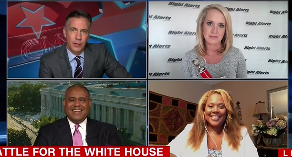 Scottie Nell Hughes laughed off CNN: 'If your candidate learns some policy we'd have a solution'