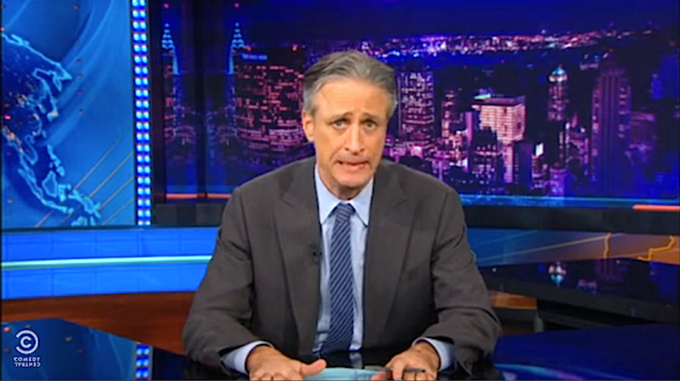 Jon Stewart mocks childish fantasies of 'Noah' critics: Happily ever after? 'Everybody drowns!'