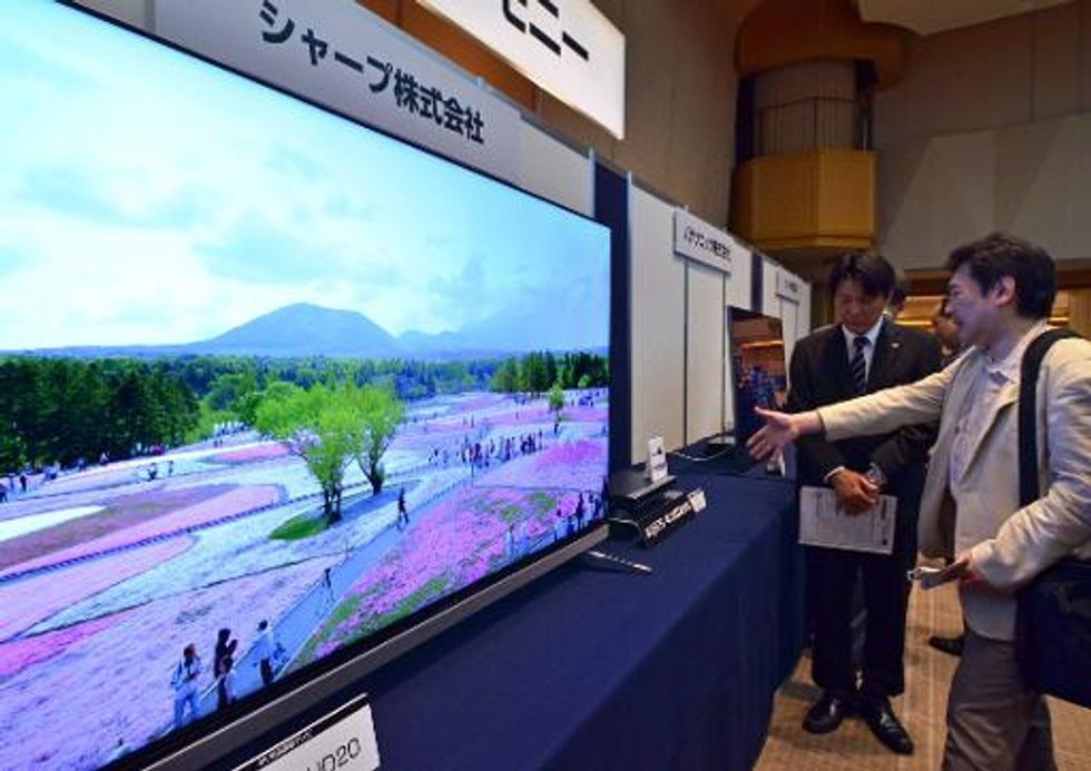 Japan test-broadcasts super HD television technology