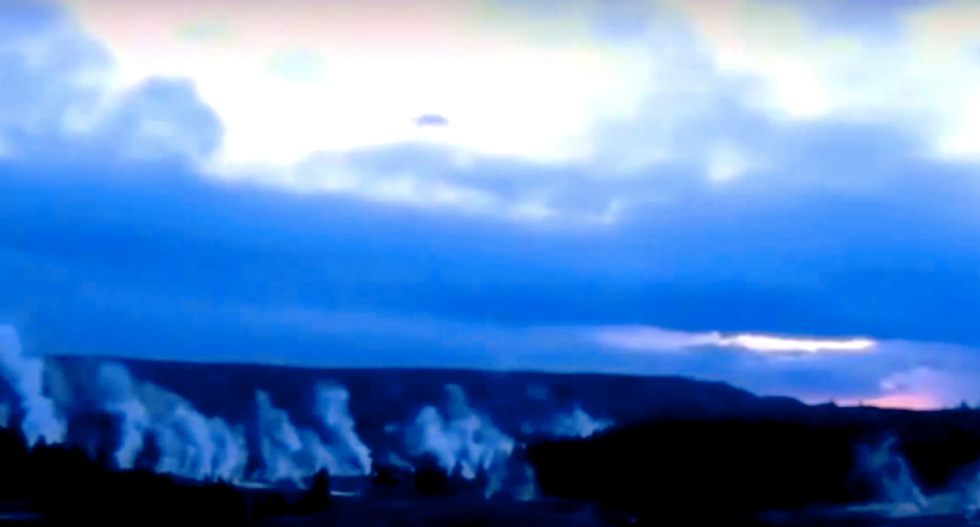 WATCH: UFO buffs freak out over aliens and supervolcano after strange objects spotted at Yellowstone
