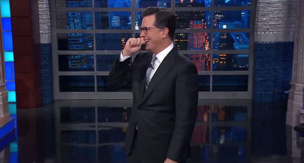 Colbert just thought of the most horrifying thing of all time: a Trump-Stormy Daniels sex tape