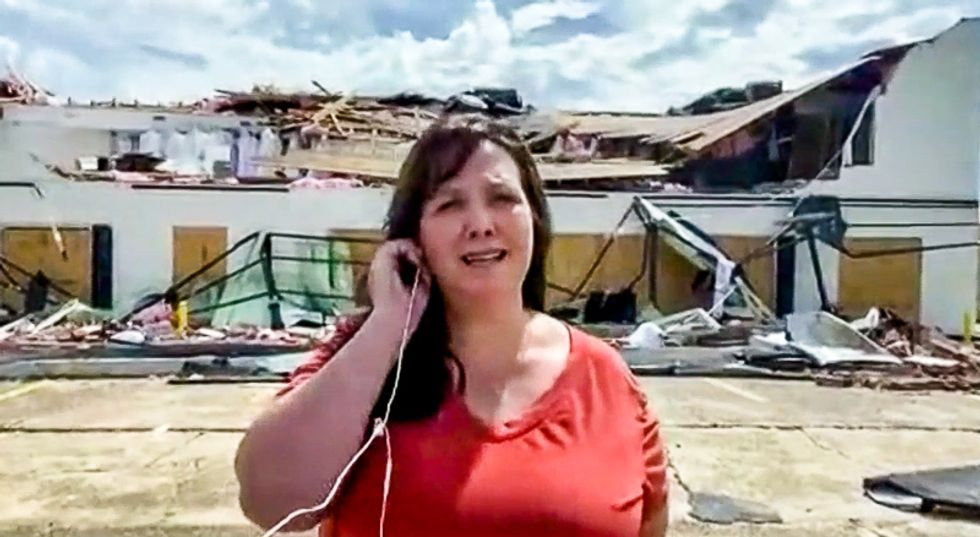 Weeping hurricane victim goes on Fox News to personally beg Trump: 'The food is gone in 30 minutes'