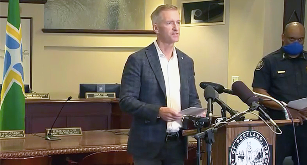 'It's you who have created the hate and the division': Portland mayor unleashes on Donald Trump for MAGA creating violence