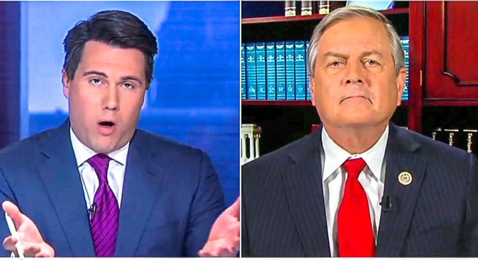 'More barbed wire?' Fox News host pounds GOPer over Trump's nonsensical promise to 'shut down the border'