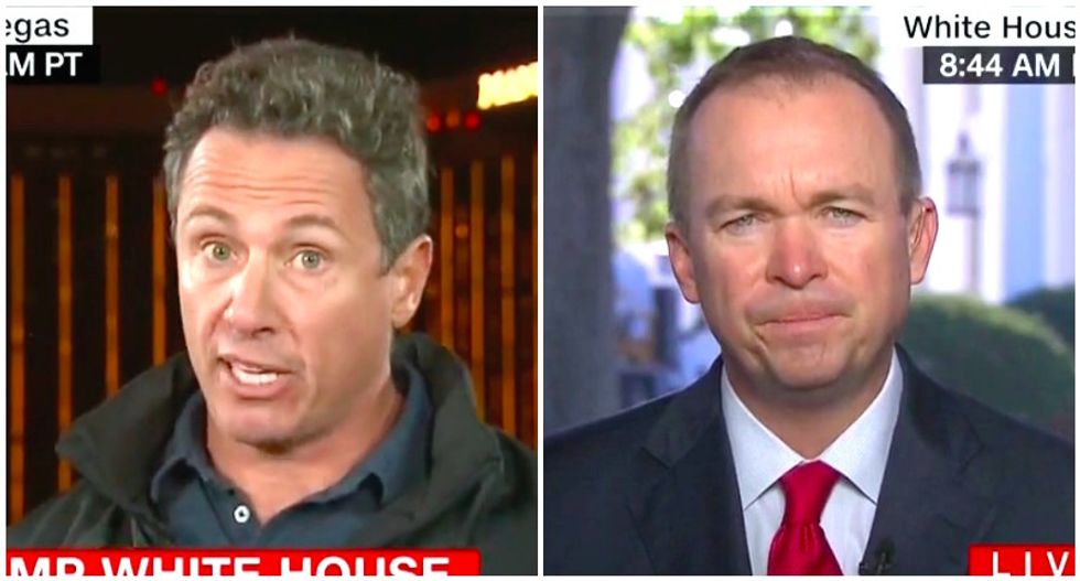CNN's Chris Cuomo destroys Mick Mulvaney for caring more about Trump's feelings than Puerto Rico suffering