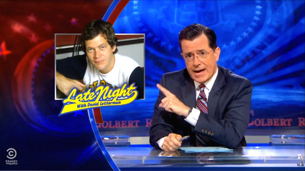 Colbert on Letterman: 'I learned more from watching Dave' than I did in college