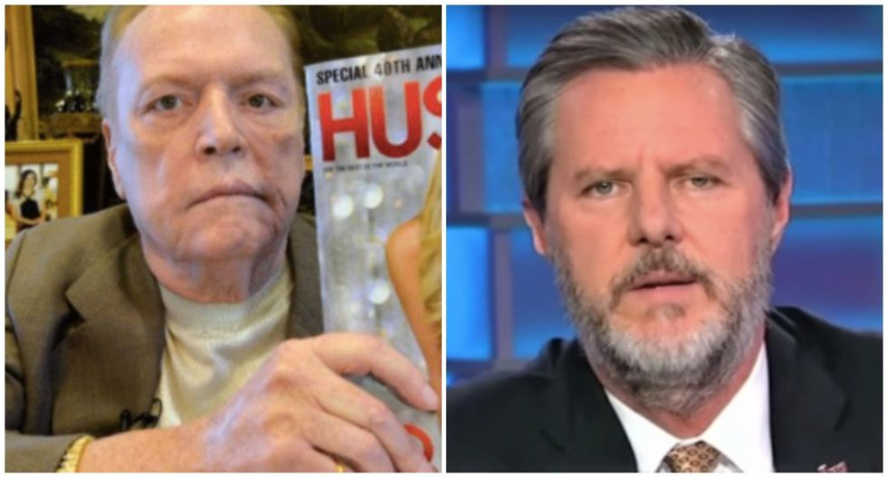 Jerry Falwell nemesis Larry Flynt takes a victory lap over Jr's 'perverted' fall from grace