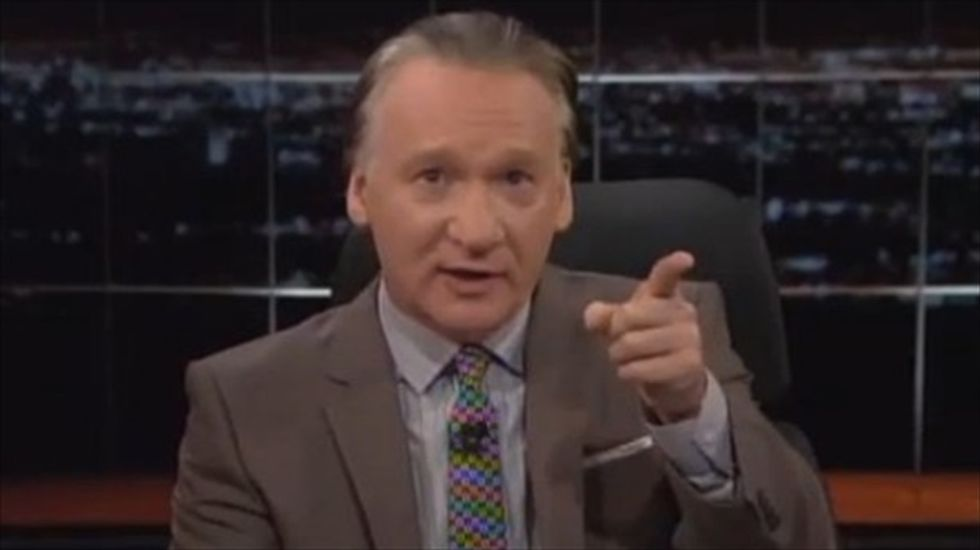 Maher blasts GOP anger over coffee salute: 'You know that Bush did it with a dog, right?'