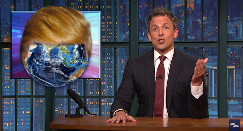 Seth Meyers brutally shames GOP for their #SaysWho climate denial while Baton Rouge drowns